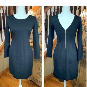 Banana Republic Black Zipper Back Dress Size 4
